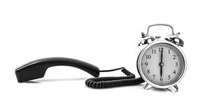 Telephone and alarm clock Stock Photography