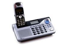 Telephone & answering machine Royalty Free Stock Photo