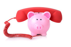 Telephone banking Royalty Free Stock Photos