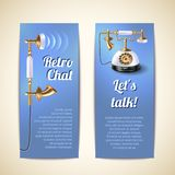 Telephone Banners Vertical Royalty Free Stock Photo