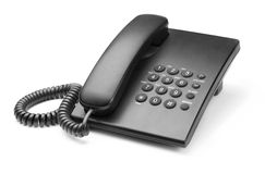 Telephone. Black phone with buttons on a white background Stock Photography