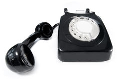 Telephone with blank label Royalty Free Stock Photos