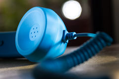 Telephone. Blue,old,communication,talking royalty free stock image