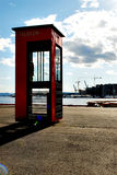 Telephone Booth. In Oslo harbour Stock Images
