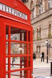 Telephone Booth. In Chester, England royalty free stock image
