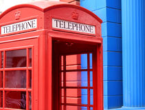 Telephone booth. A british style public telephone booth Stock Images