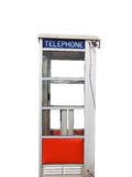 Telephone Booth. Isolated on a white background Stock Images