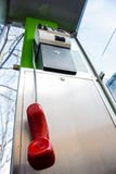 Telephone booth of the austrian telekom Royalty Free Stock Photography