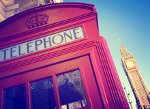 Telephone Booth Big Ben Travel Destinations Concept Royalty Free Stock Photography