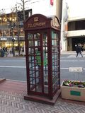 Telephone Booth. Telephone box in Shibuya Royalty Free Stock Photography