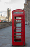 Telephone Booth near the Houses of Parliament Stock Photos