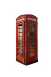 Telephone booth. Old dilapidated British telephone booth Stock Image