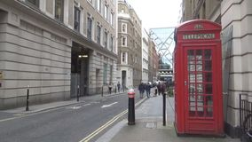 telephone booth and people stock footage