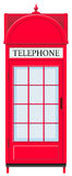 Telephone booth in red Stock Photos