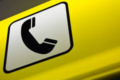 Telephone booth sign Royalty Free Stock Photos
