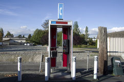 Telephone booth. A telephone booth in a small town near Seattle Stock Image