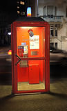 Telephone booth Swsscom. Geneva Royalty Free Stock Photography