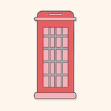 Telephone booth theme elements vector,eps. Vector illustration file Stock Photography