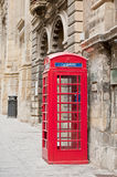 Telephone booth in Valletta, Malta Stock Images