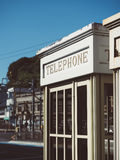 Telephone Booth Vintage style outdoor Urban scene Royalty Free Stock Images