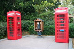 Telephone booths Stock Image