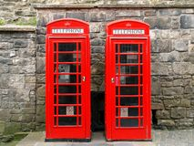 Telephone booths. Royalty Free Stock Image