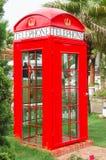 Telephone box. London red vintage telephone box Royalty Free Stock Photography