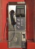 Telephone box. Public telephone box in Spanish speaking country Stock Image