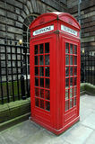 Telephone box. A red English telephone box in London Stock Photo