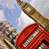 Telephone box and Big Ben Stock Photography