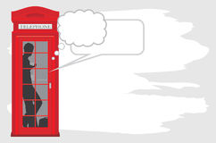 Telephone box isolated on the abstract background royalty free stock photos