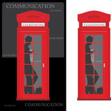 Telephone box isolated on the white and black Royalty Free Stock Photos