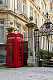 Telephone box in London Stock Photo