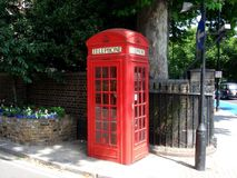 Telephone box. London red phone box Royalty Free Stock Photography