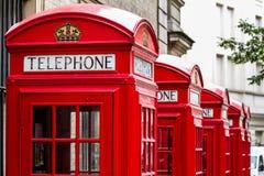 Telephone box. London red telephone box, United Kingdom Royalty Free Stock Photo