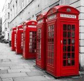 Telephone box. London red telephone box, United Kingdom Stock Photo