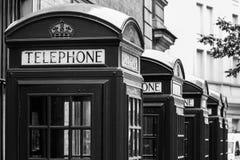 Telephone box. London's red telephone boxes, United Kingdom Stock Photos