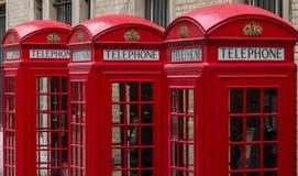 Telephone box. London's red telephone boxes, United Kingdom Royalty Free Stock Photo