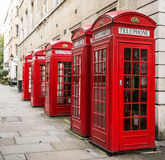 Telephone box. London's red telephone boxes, United Kingdom Royalty Free Stock Images