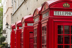 Telephone box. London's red telephone boxes, United Kingdom Stock Photography