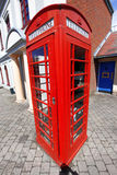 Telephone box in London, UK Stock Photography