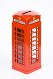 Telephone box money bank Royalty Free Stock Image