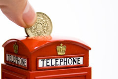 Telephone box money bank Royalty Free Stock Photos