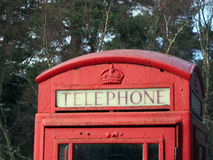Telephone Box near Falls of Foyers Stock Photos