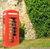 Telephone box. A red british telephone box Royalty Free Stock Photo