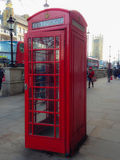 Telephone box. Red Telephone box in London, UK Stock Photos