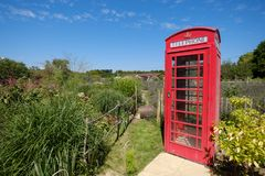 A Telephone Box in Rural England royalty free stock photo