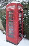Telephone Box in Snow Royalty Free Stock Photography