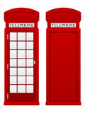 Telephone box. On a white background stock illustration