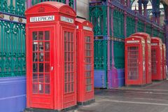 Telephone Boxes Royalty Free Stock Images
